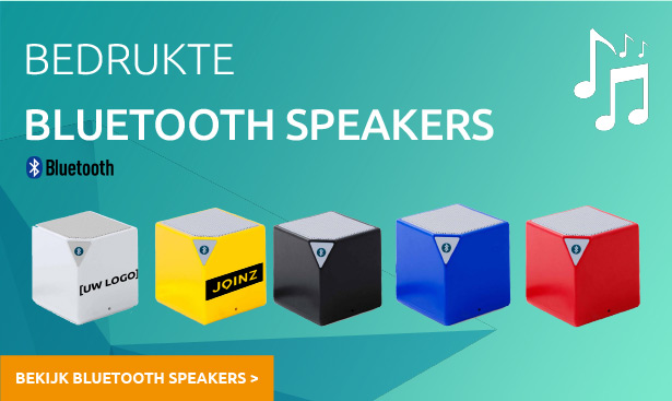 Bedrukte Bluetooth speakers
